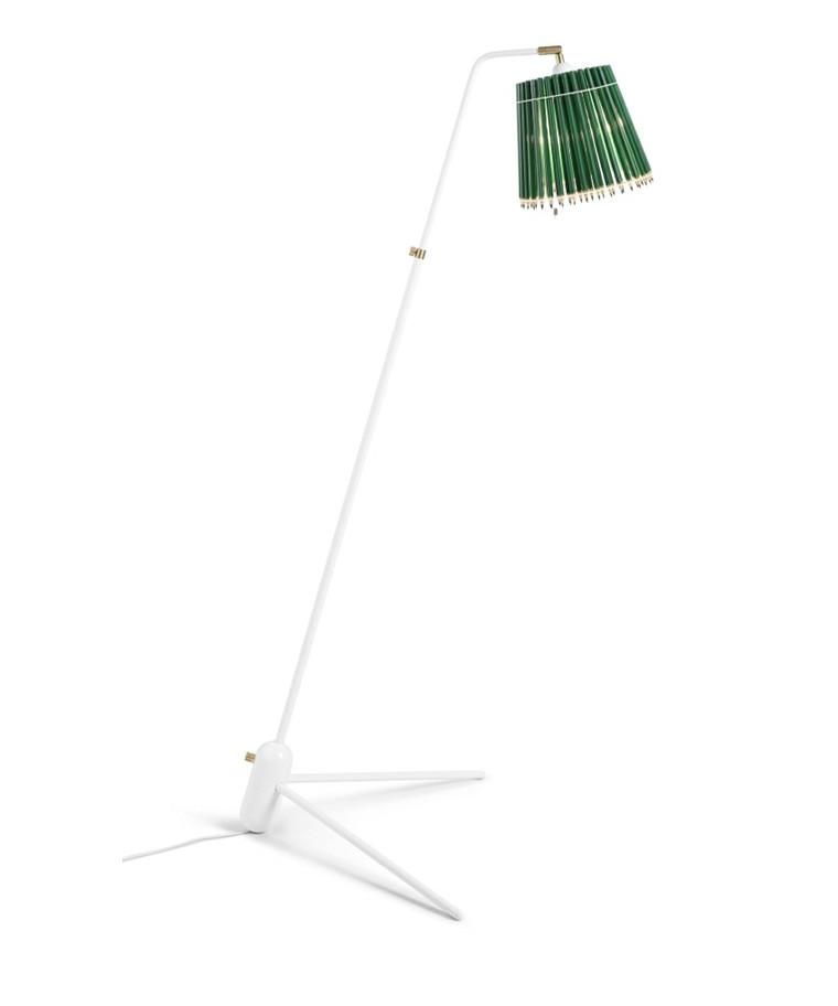 Pencil Gulvlampe Grøn/Hvid - Tom Rossau