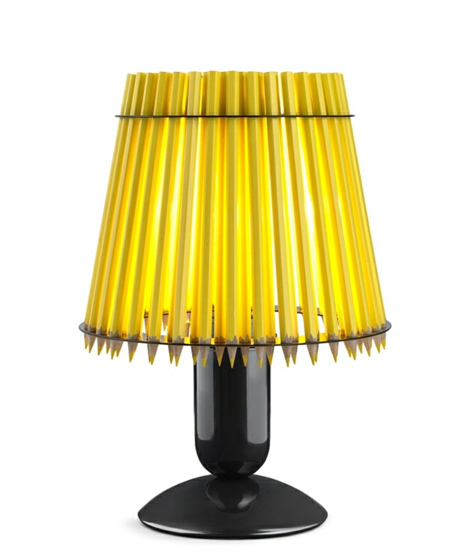 Pencil Bordlampe Gul/Sort - Tom Rossau