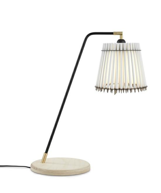 Pencil Høj Bordlampe Hvid/Sort - Tom Rossau