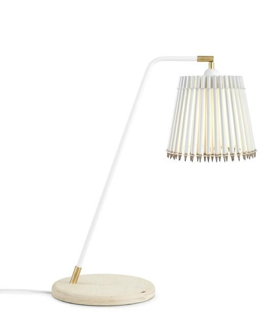 Pencil Høj Bordlampe Hvid/Hvid - Tom Rossau