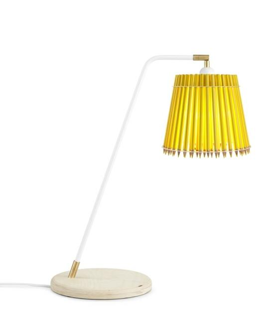 Pencil Høj Bordlampe Gul/Hvid - Tom Rossau