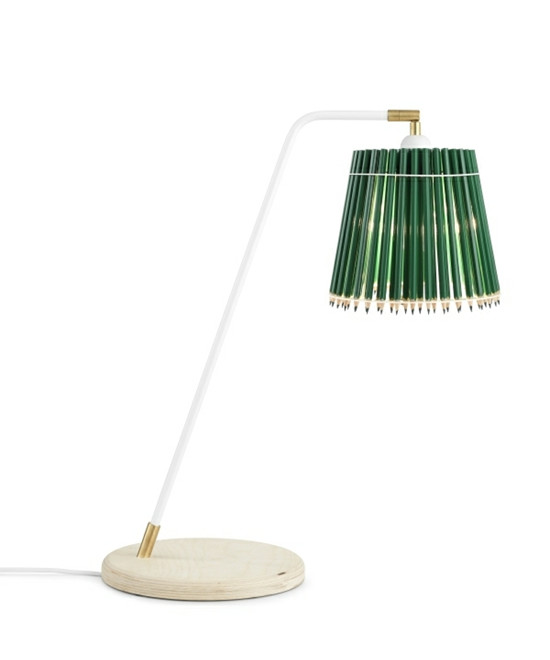 Pencil Høj Bordlampe Grøn/Hvid - Tom Rossau