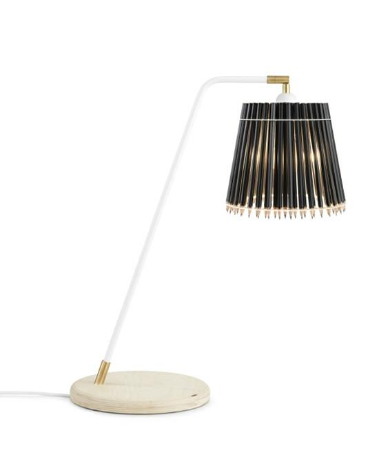 Pencil Høj Bordlampe Sort/Hvid - Tom Rossau