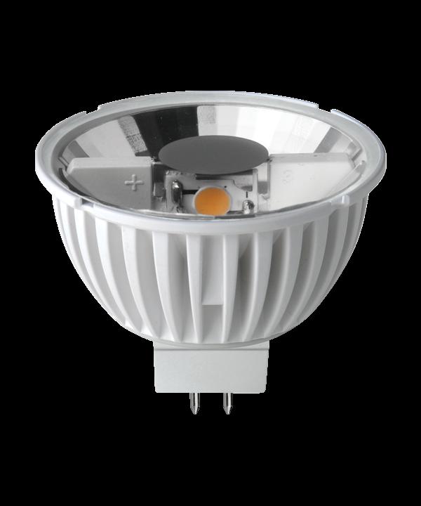 Producent MegamanKoncept Reflektor pære.  Den har 180lm, hvilket svarer til ca. 15-25W. Den har et varmt lys med 2800 kelvin og en RA værdi på 80, hvilket betyder at den gengiver farverne i rummet optimalt.  Hvis du har det lidt svært med det, med pærer, kommer der her en lille kort forklaring om de vigtigste ting, du skal være opmærksom på.  I dag bliver lysstyrken målt på lumen i stedet for watt. Du kan nogenlunde gå ud fra nedenstående.  15W = 140 lumen  25W = 250 lumen  40W = 470 lumen  60W = 800 lumen  75W = 1050 lumen  100W = 1520 lumen Derudover kan man også se på en pære, at der er oplyst en RA eller CRI værdi. Det er lysets evne til at gengive farver og det vurderes på en skala fra 0-100 RA.  100 RA giver den bedste farvegengivelse og det er det, man får fra dagslys.  Til et almindeligt hjem, skal man vælge pærer med en RA værdi på mere end 80.  Der vil også være oplyst en kelvingrad. Dette er lysets farve. En pære med en kelvingrad på 2.700 - 3.000 har et varmt lys.  4.000-4.