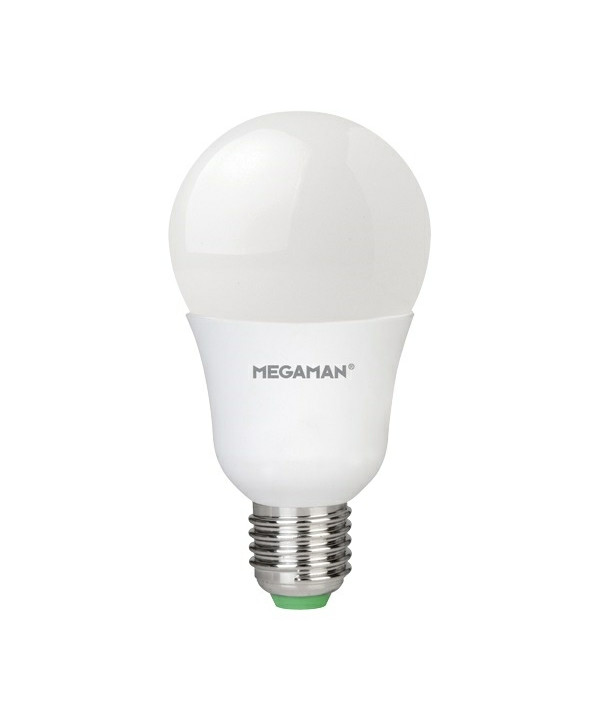 Producent MegamanKoncept LED pære.  Den har 1055lm, hvilket svarer til ca. 75-100W. Hvis du har det lidt svært med det, med pærer, kommer der her en lille kort forklaring om de vigtigste ting, du skal være opmærksom på.  I dag bliver lysstyrken målt på lumen i stedet for watt. Du kan nogenlunde gå ud fra nedenstående.  15W = 140 lumen  25W = 250 lumen  40W = 470 lumen  60W = 800 lumen  75W = 1050 lumen  100W = 1520 lumen Derudover kan man også se på en pære, at der er oplyst en RA eller CRI værdi. Det er lysets evne til at gengive farver og det vurderes på en skala fra 0-100 RA.  100 RA giver den bedste farvegengivelse og det er det, man får fra dagslys.  Til et almindeligt hjem, skal man vælge pærer med en RA værdi på mere end 80.  Der vil også være oplyst en kelvingrad. Dette er lysets farve. En pære med en kelvingrad på 2.700 - 3.000 har et varmt lys.  4.000-4.5000 giver et neutral til køligt lys og er den mest optimale lysfarve at arbejde i.  Hvis man har brug for ekstra energi i d