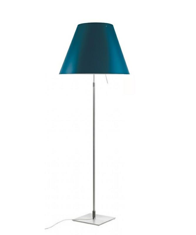 Costanza Gulvlampe Alu/Petroleum Blue - Luceplan