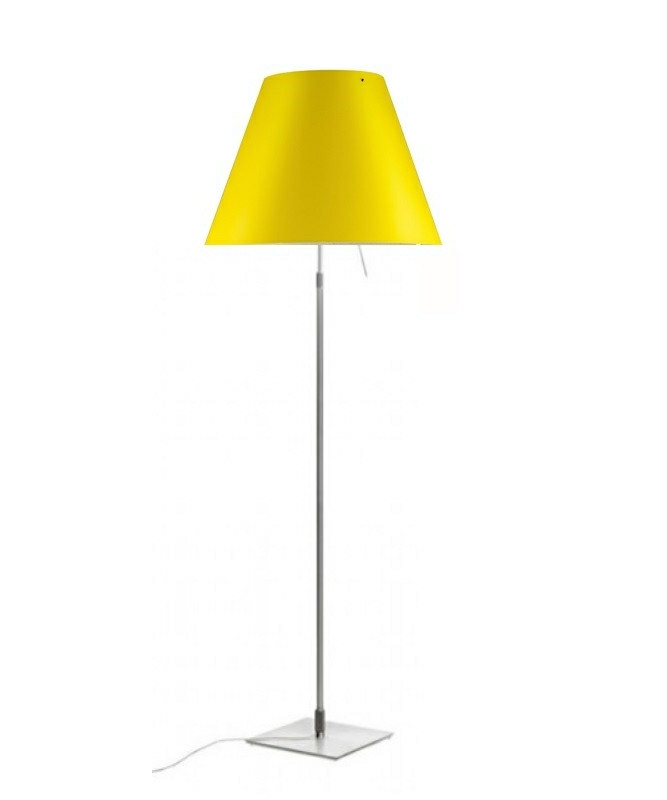 Costanza Gulvlampe Alu/Smart Yellow - Luceplan