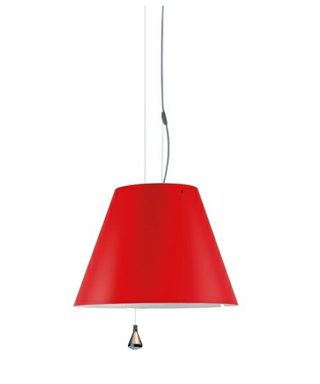 Costanza Pendel Up/Down Primary Red - Luceplan
