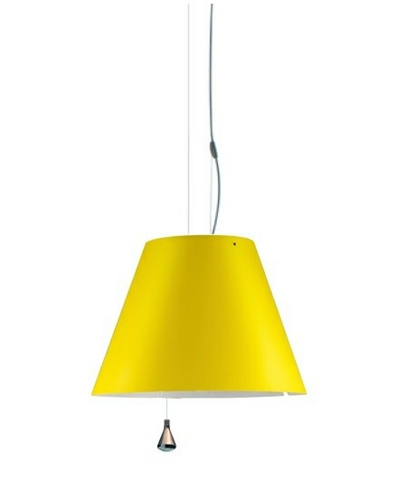 Costanza Taklampa Up/Down Smart Yellow - Luceplan