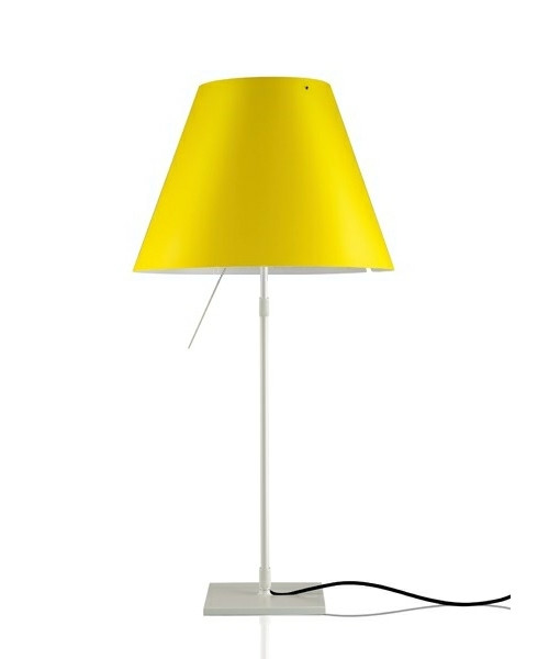 Costanza Bordlampe m/Dimmer Alu/ Smart Yellow - Luceplan