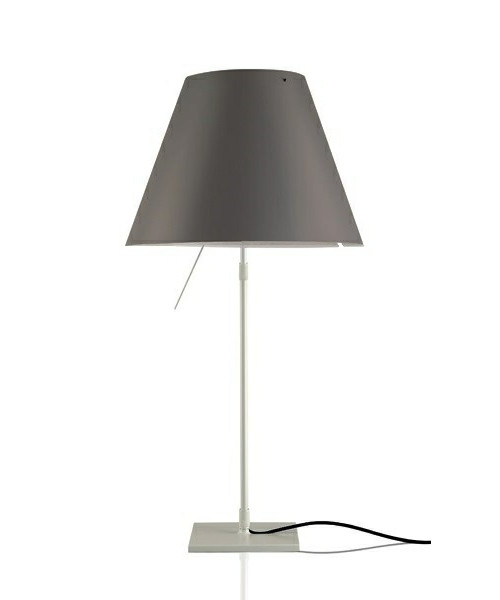 Costanza Bordlampe m/Dimmer Alu/ Concrete Grey - Luceplan