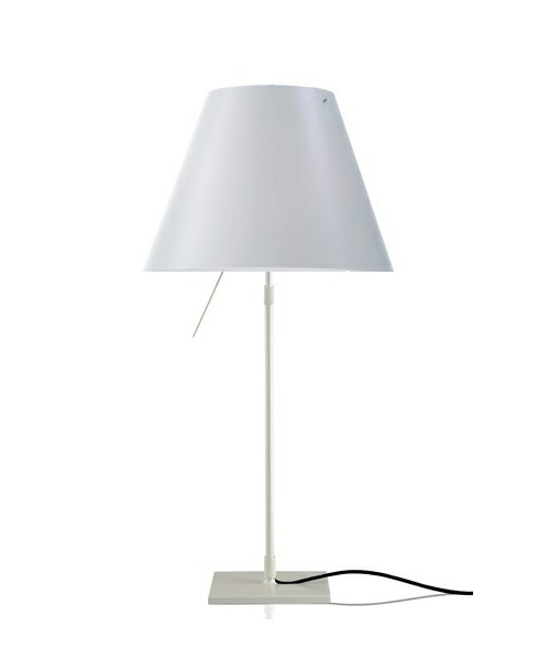 Costanza Bordlampe m/Dimmer Alu/ White - Luceplan