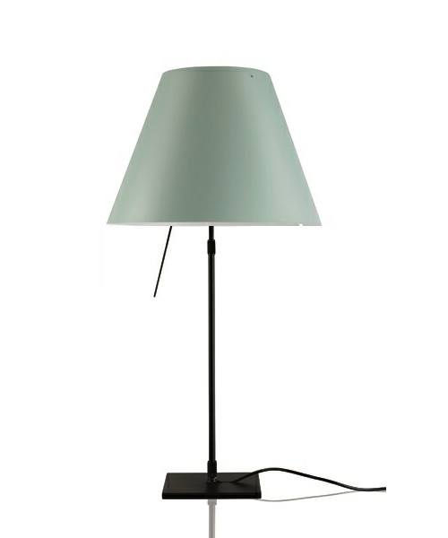 Costanza Bordlampe m/Dimmer Sort/Comfort Green - Luceplan