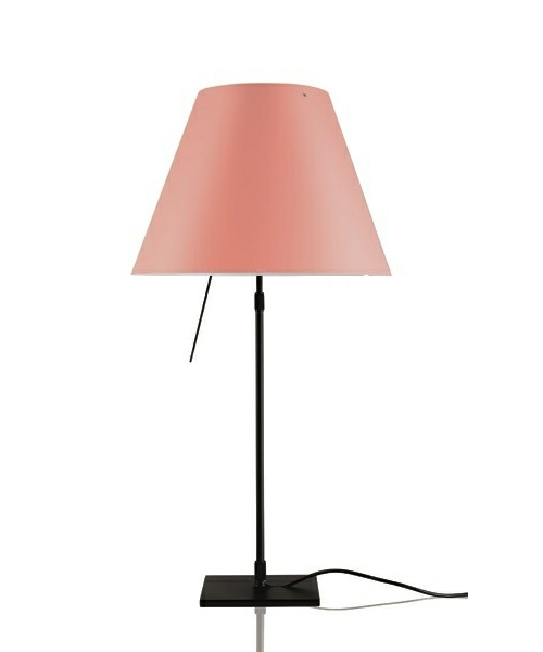 Costanza Bordlampe m/Dimmer Sort/Edgy Pink - Luceplan