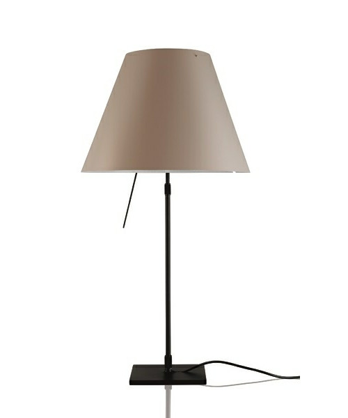 Costanza Bordlampe m/Dimmer Sort/Shaded Stone - Luceplan