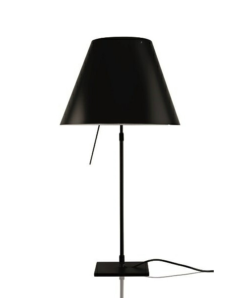 Costanza Bordlampe m/Dimmer Sort/Liquorice Black - Luceplan