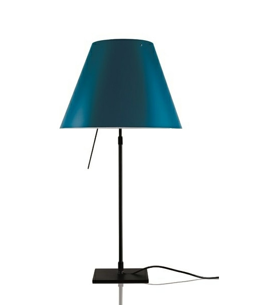 Costanza Bordlampe m/Dimmer Sort/Petroleum Blue - Luceplan