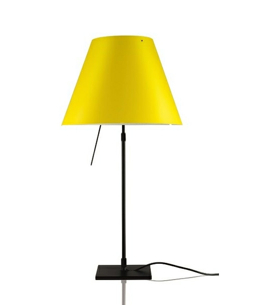 Costanza Bordlampe m/Dimmer Sort/Smart Yellow - Luceplan