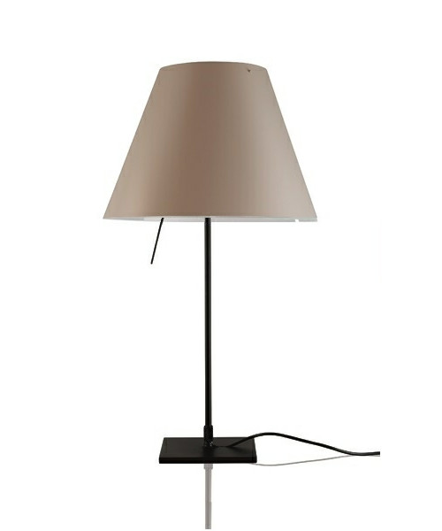 Costanzina Bordlampe Svart/Shaded Stone - Luceplan