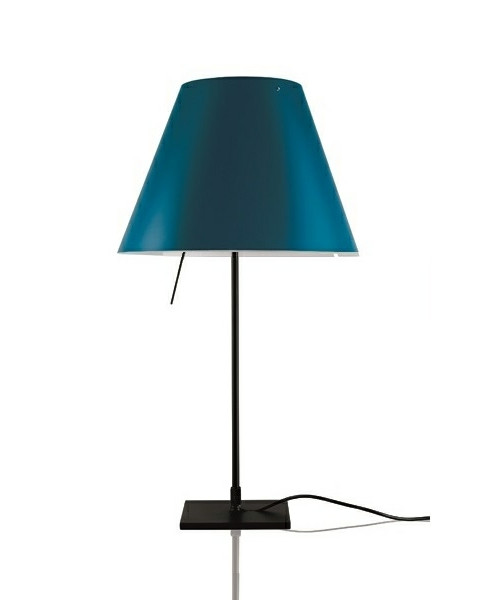 Costanzina Bordlampe Sort/Petroleum Blue - Lucepla