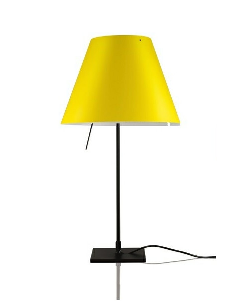 Costanzina Bordlampe Sort/Smart Yellow - Luceplan