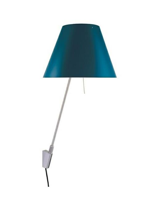 Costanzina Væglampe Alu/Petroleum Blue - Luceplan