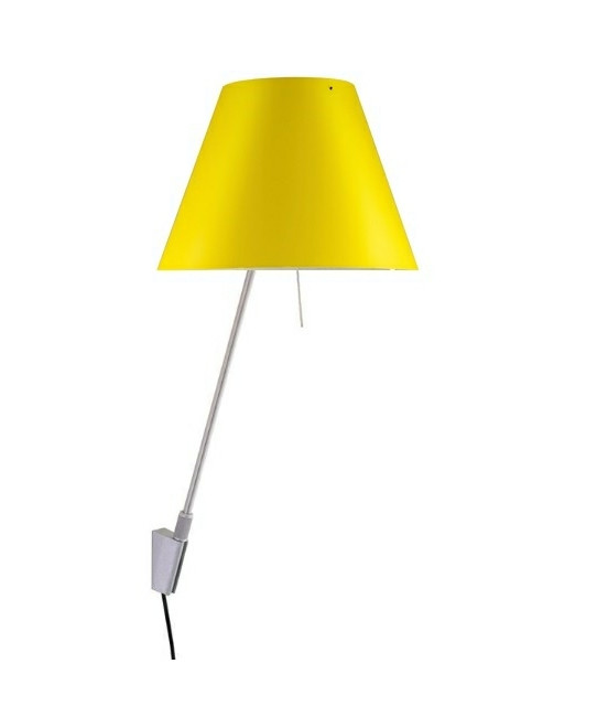 Costanzina Vegglampe Alu/Smart Yellow - Luceplan