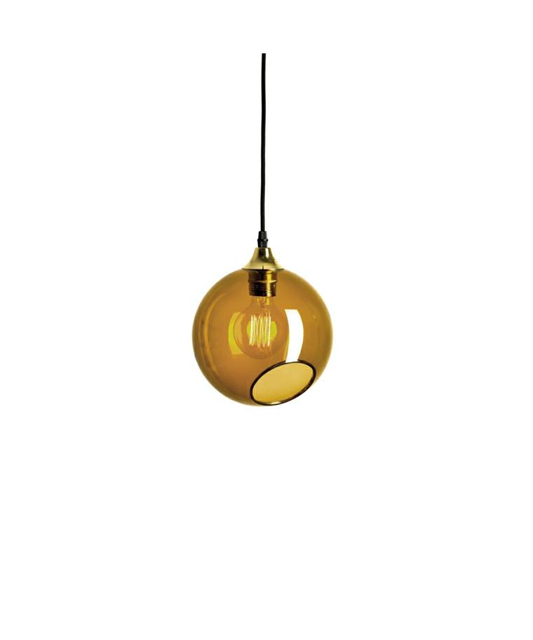 Ballroom Pendel Amber m/Guld Sokkel - Design By Us