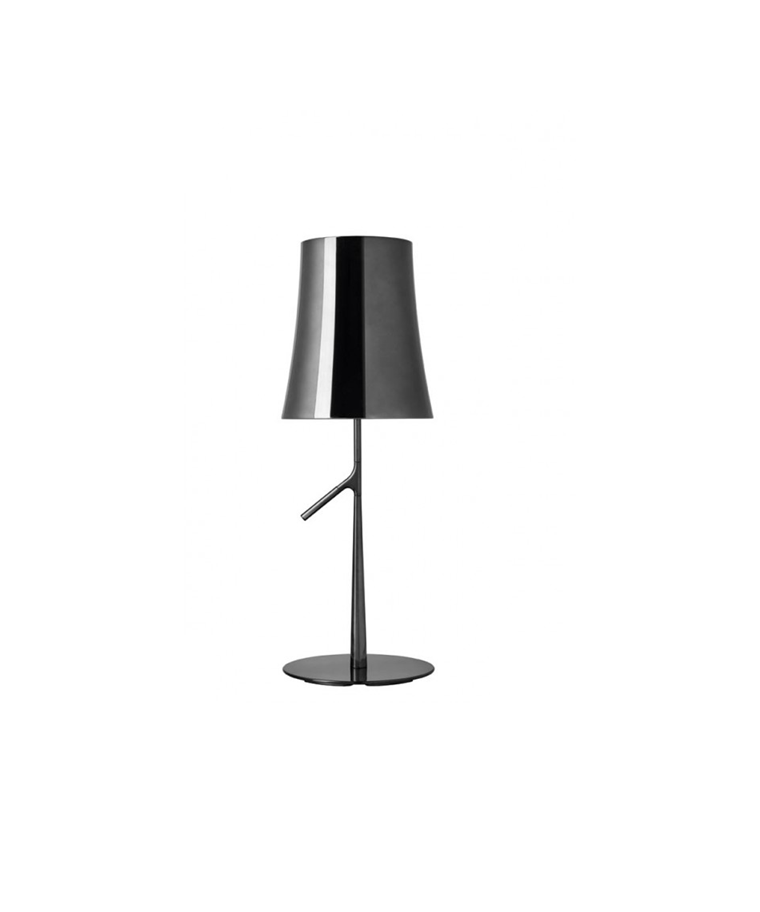 Birdie Piccola Metal Bordlampe Sort Krom - Foscarini