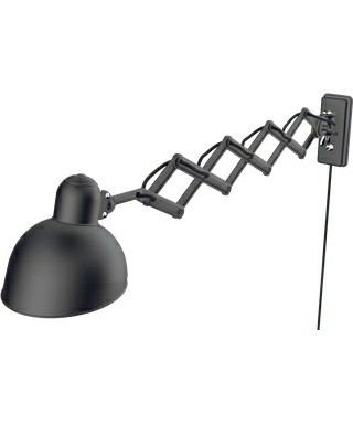 Kaiser Idell Vägglampa Saxlampa 6718-W Mat Svart - Fritz Hansen