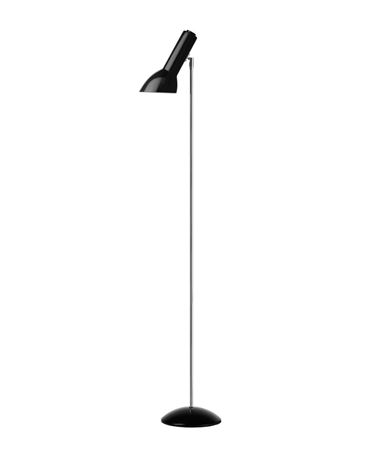 Oblique Gulvlampe Blank Sort - CPH Lighting