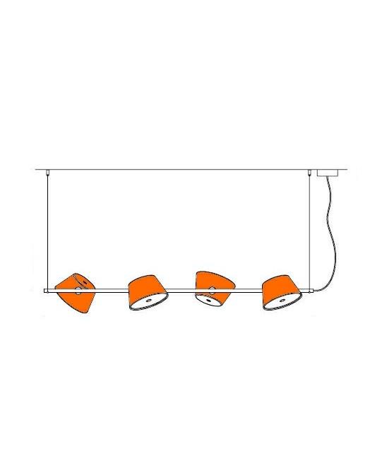 Tam Tam 4 Pendel Orange - Marset