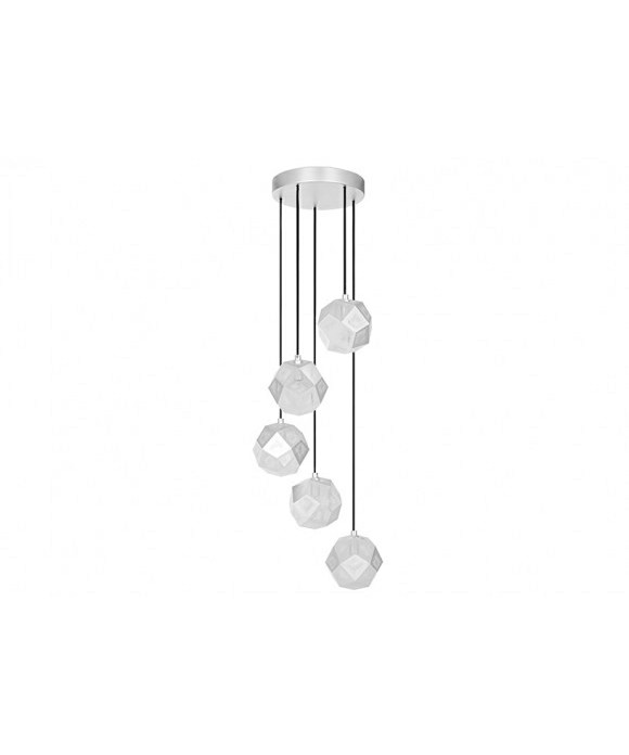 Etch Mini Chandelier Soft Silver - Tom Dixon