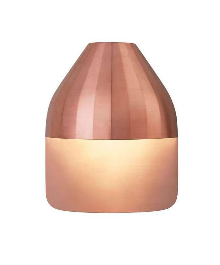 Facet Udendørs Væglampe m/Medium Baseplade Kobber - Le Klint