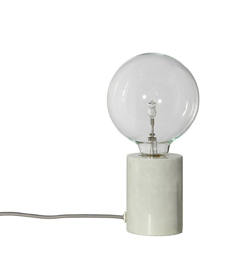 Bristol Bordlampe Hvid/Marmor - Frandsen