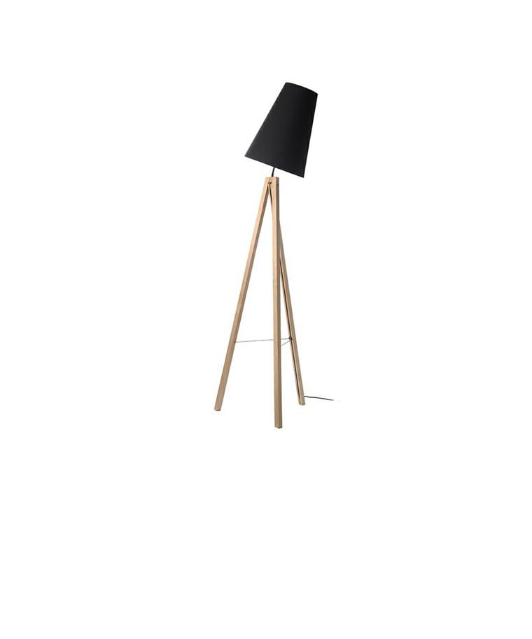 Splitt Gulvlampe Ask/Sort - Frandsen