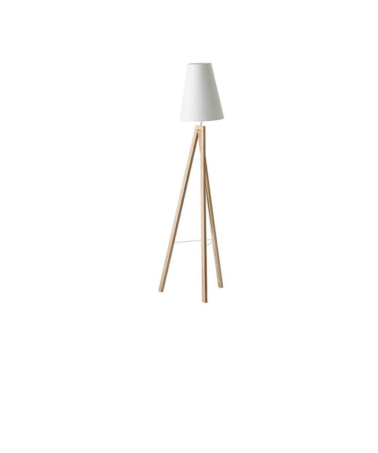 Splitt Gulvlampe Ask/Hvide - Frandsen