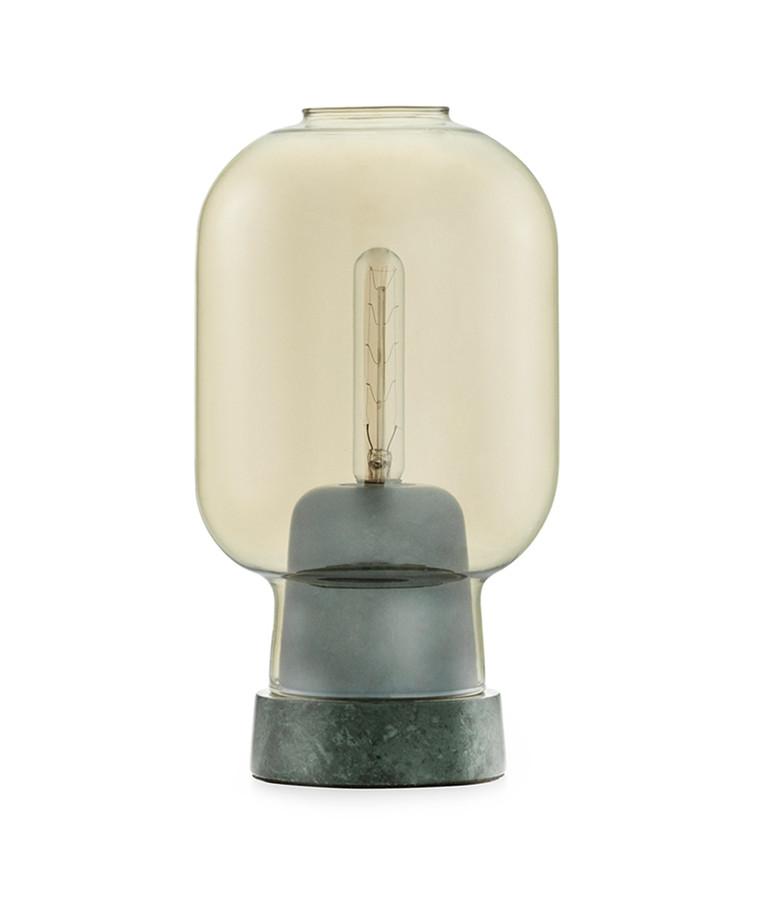 Amp Bordlampe Guld/Grøn - Normann