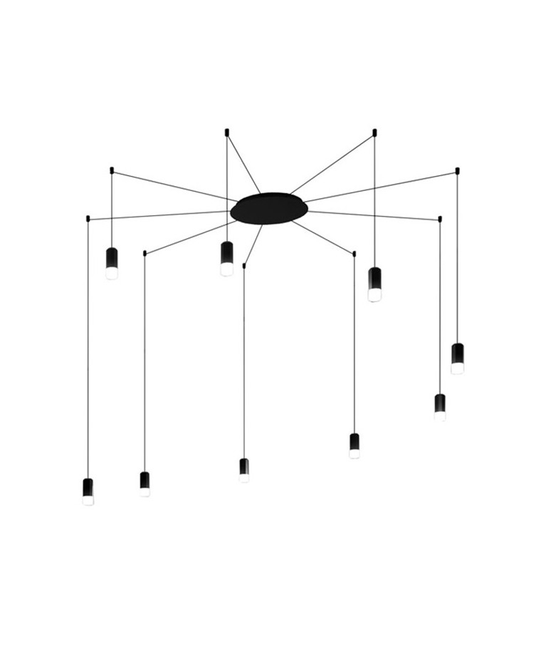 Wireflow Pendelleuchte Free Form 9 - Vibia