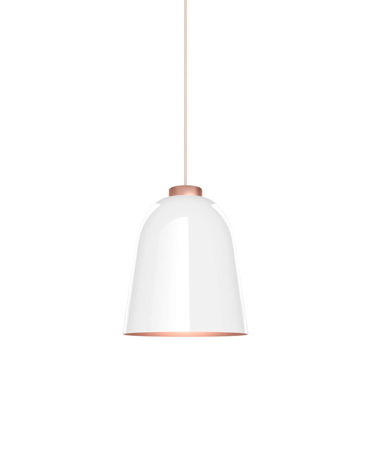Summera Taklampa Medium Blank Vit/Röd Gold - Shapes