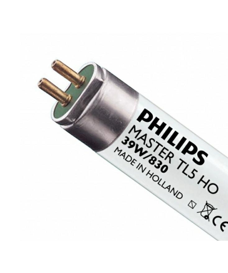 Producent PhilipsKoncept Lysstofrør Pære på 39W.  Hvis du har det lidt svært med det, med pærer, kommer der her en lille kort forklaring om de vigtigste ting, du skal være opmærksom på.  I dag bliver lysstyrken målt på lumen i stedet for watt. Du kan nogenlunde gå ud fra nedenstående.  15W = 140 lumen  25W = 250 lumen  40W = 470 lumen  60W = 800 lumen  75W = 1050 lumen  100W = 1520 lumen Derudover kan man også se på en pære, at der er oplyst en RA eller CRI værdi. Det er lysets evne til at gengive farver og det vurderes på en skala fra 0-100 RA.  100 RA giver den bedste farvegengivelse og det er det, man får fra dagslys.  Til et almindeligt hjem, skal man vælge pærer med en RA værdi på mere end 80.  Der vil også være oplyst en kelvingrad. Dette er lysets farve. En pære med en kelvingrad på 2.700 - 3.000 har et varmt lys.  4.000-4.5000 giver et neutral til køligt lys og er den mest optimale lysfarve at arbejde i.  Hvis man har brug for ekstra energi i de mørke måneder, skal man gå efter
