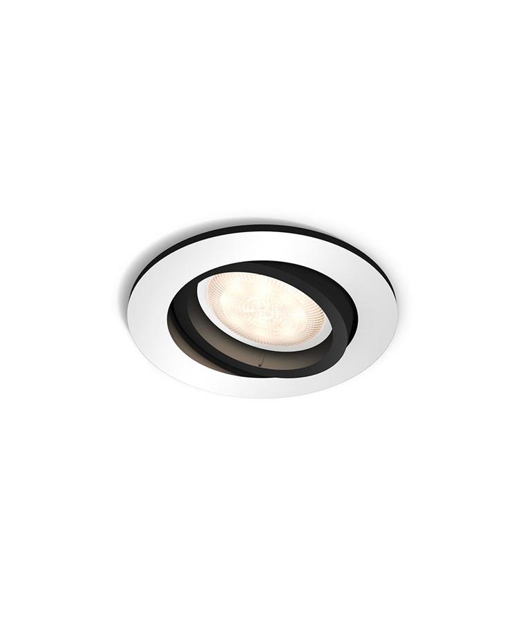 Milliskin Round Loftlampe m/Switch Alu - Philips Hue