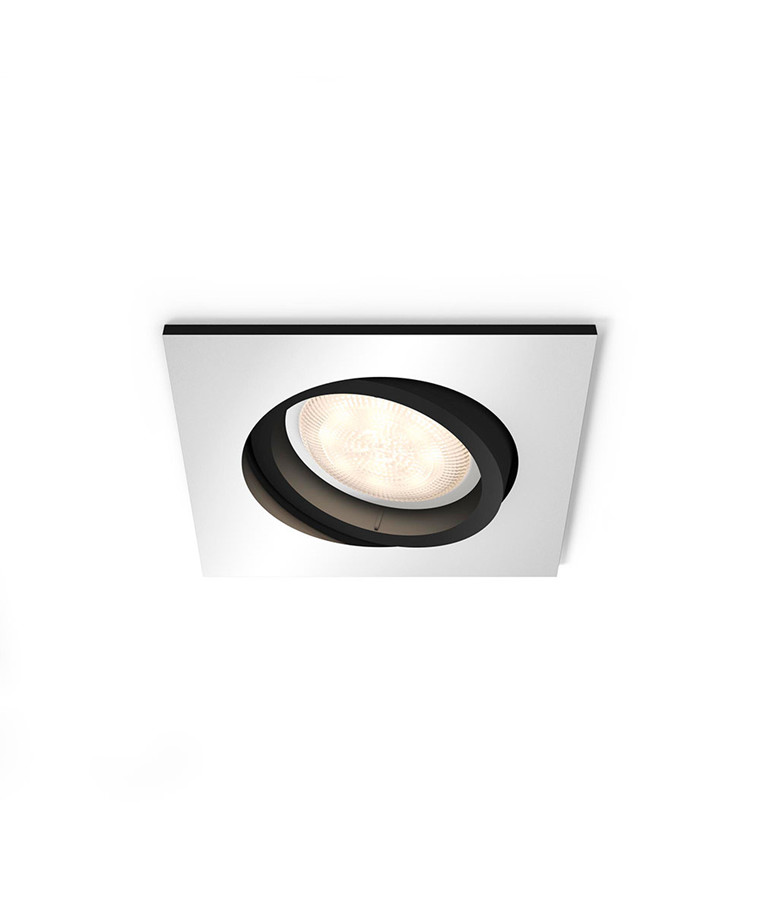 Milliskin Square Loftlampe m/Switch Alu - Philips Hue