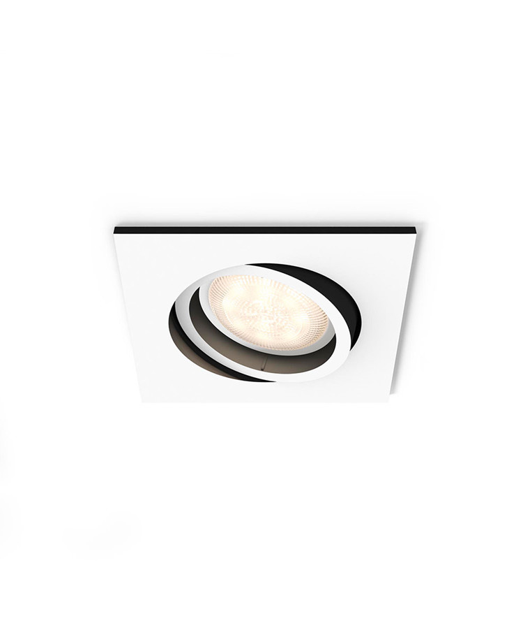 Milliskin Square Loftlampe Hvid - Philips Hue