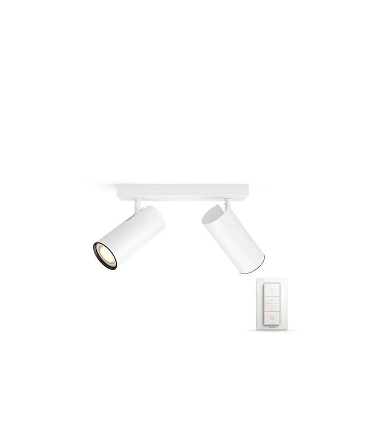 Buratto Loftlampe 2xBar/Tube Hvid - Philips Hue