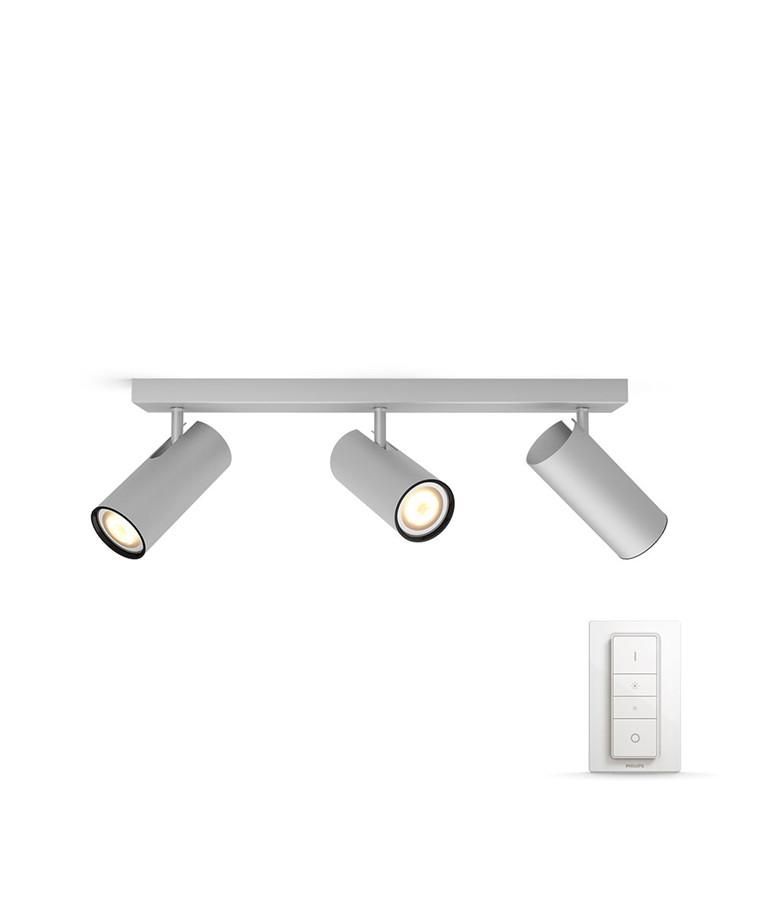 Buratto Loftlampe 3xBar/Tube Alu - Philips Hue