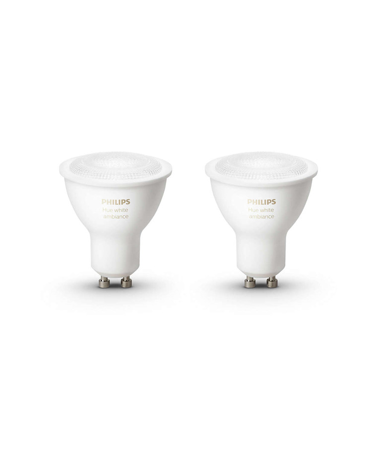 Philips Hue Ambiance 5.5W GU10 2 Pack Päronlampa