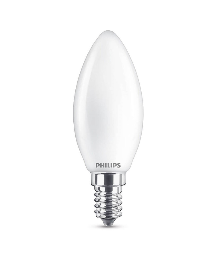 Leuchtmittel LED 4,3W Glas Kertzen (470lm) E14 - Philips