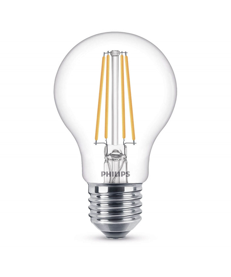 Päronlampa LED 8W Glas (806lm) Dimbar E27 - Philips