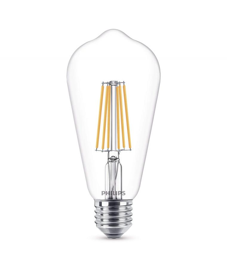 Päronlampa LED 8W Glas Warmglow (806lm) E27 - Philips